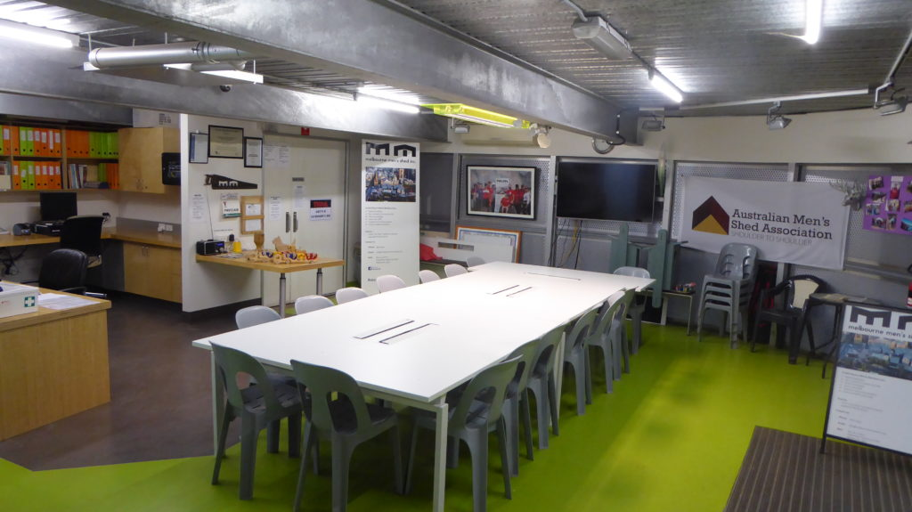 Melbourne Men's Shed meeting room