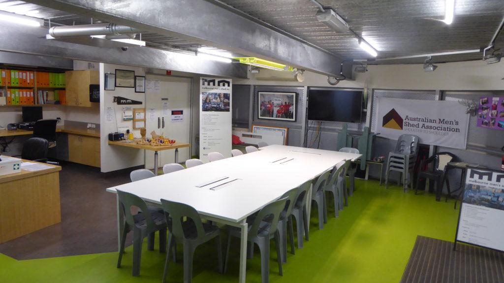 Melbourne Men's Shed meeting room